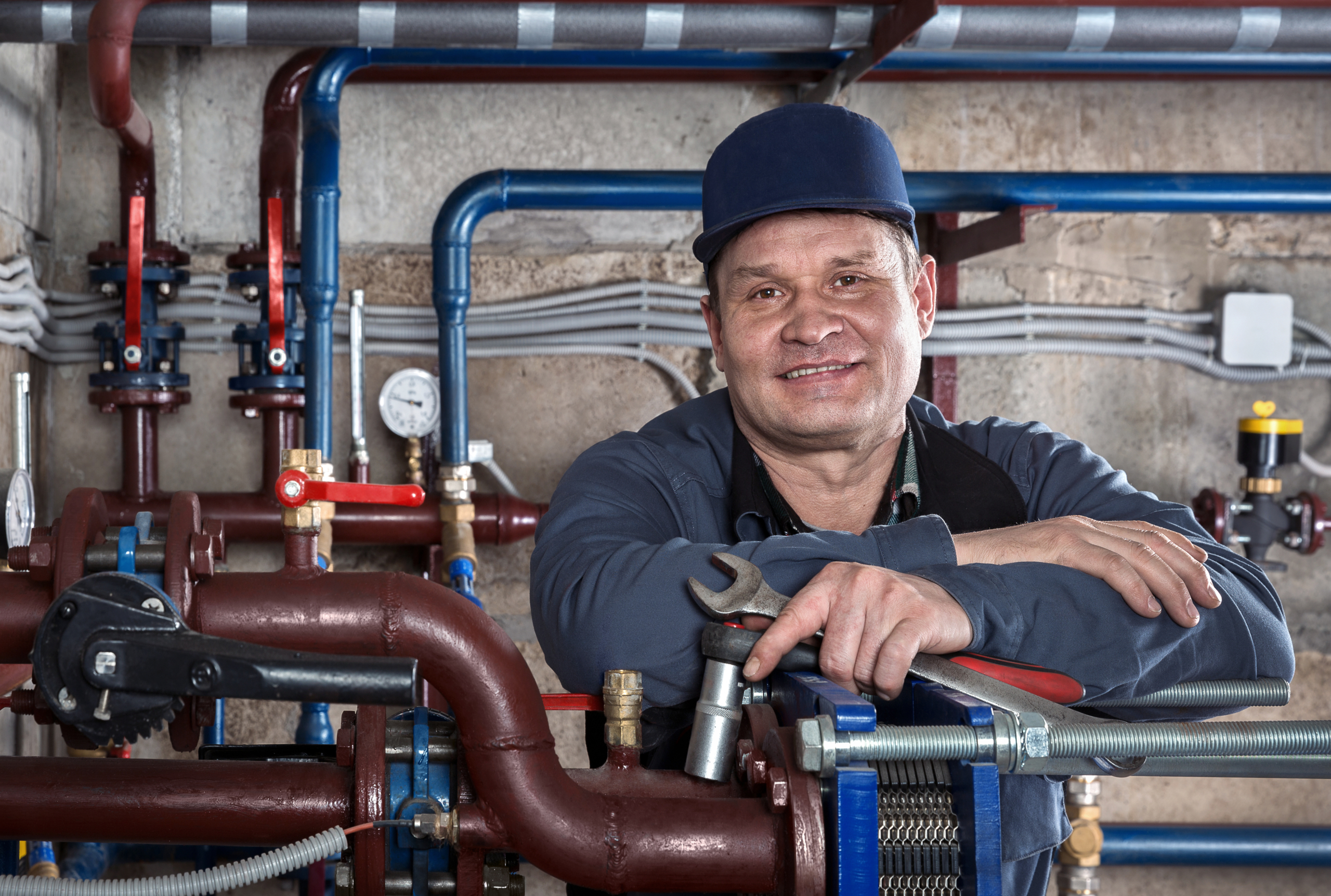 Portrait plumbing engineer.