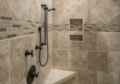 evn in this pretty tile shower you can end up with a smelly shower if you are not careful